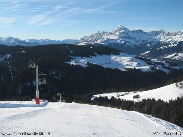 Le Mont Charvin en arrière plan