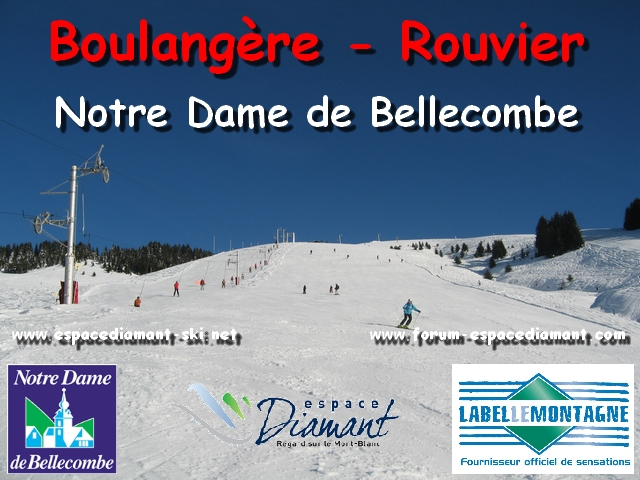 Pistes rouges de la Boulang�re et du Rouvier