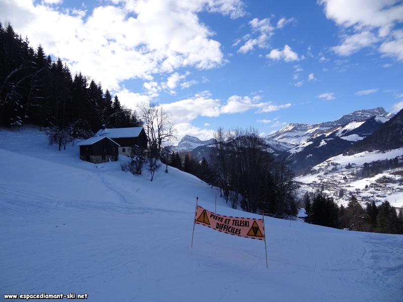 Secteur réservé aux bons skieurs