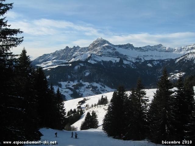 ...et dominée par le Mont Charvin