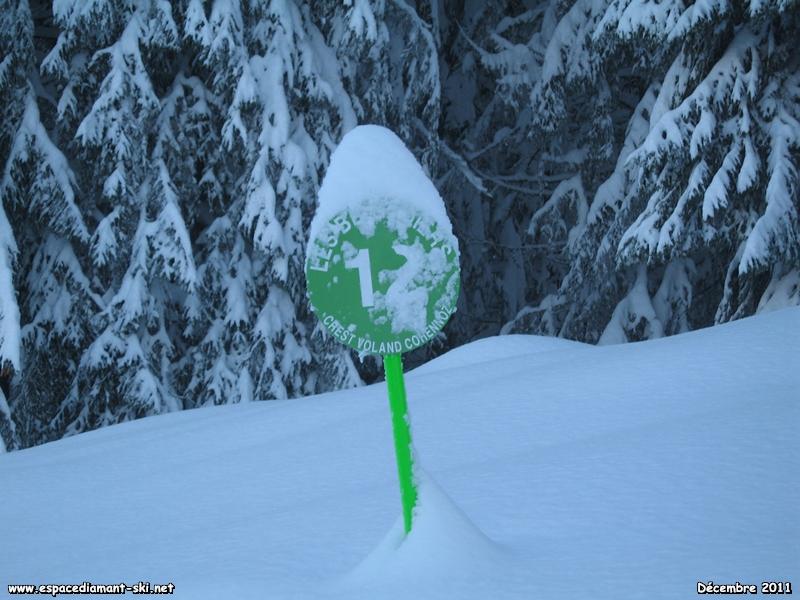 Le panneau sous la neige