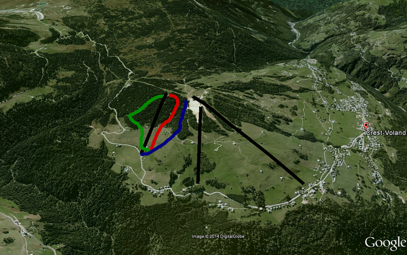 Situation sur une vue 3D Google Earth