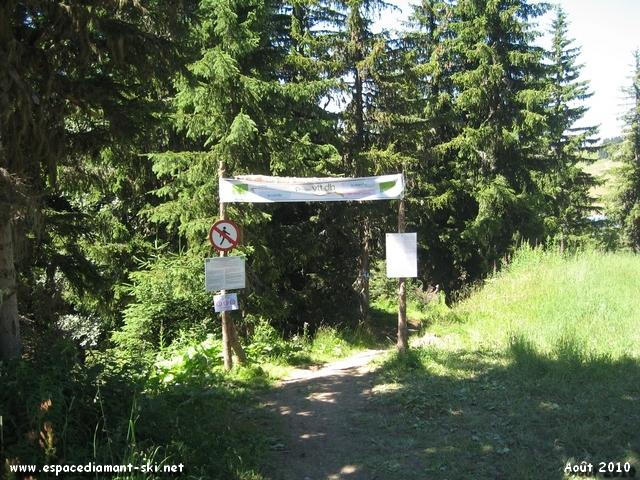 Départ commun pour 4 des 6 pistes DH du massif