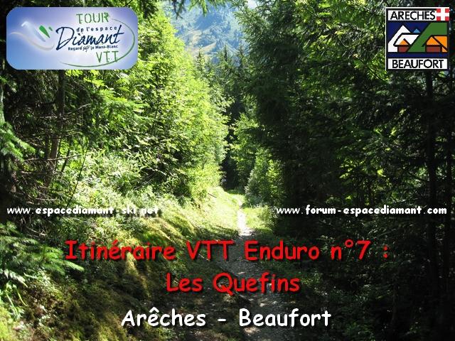 Itinéraire rouge d'Enduro n°7 : Les Quefins