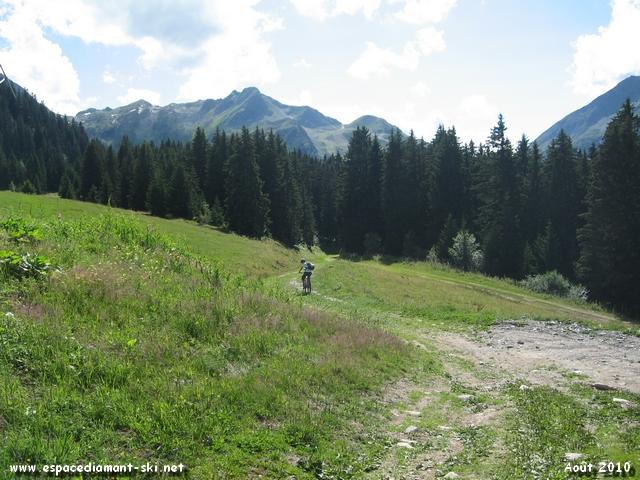Départ au Plateau de Cuvy, sur la droite en arrivant du TSD4 du Grand Mont