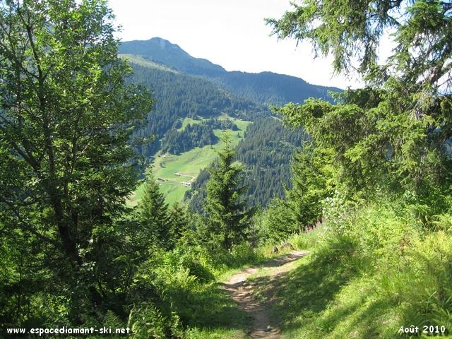 Petit sentier à flanc de montagne