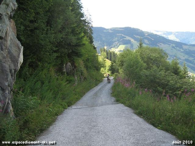 Chemin à flanc de montagne