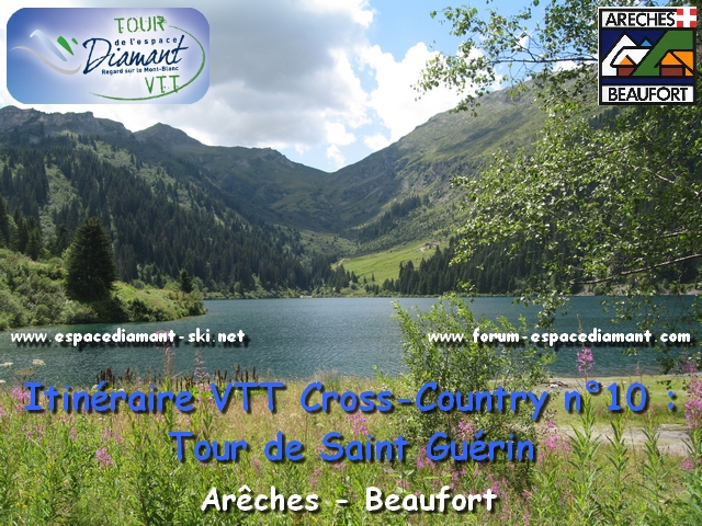 Itin�raire bleu de Cross-Country n�10 : Tour de Saint Gu�rin