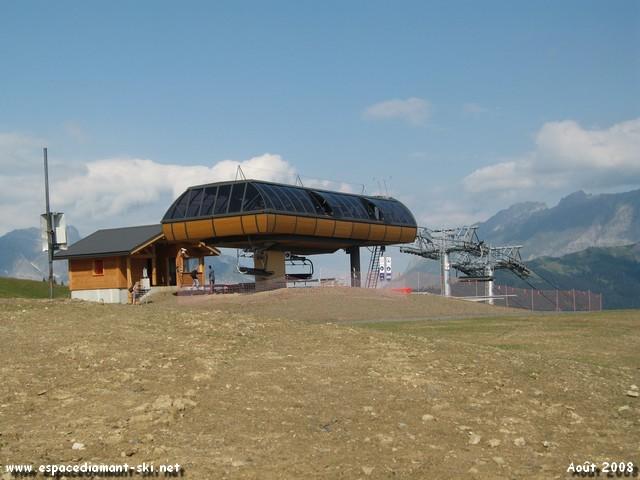 Au sommet du Télésiège, à 1723 mètres d'altitude