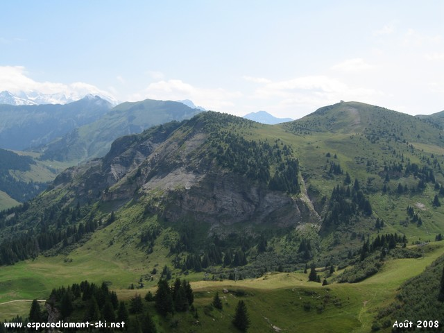 Vers le massif de Véry...