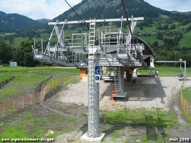 Pylône 1 compression et entrée en gare aval