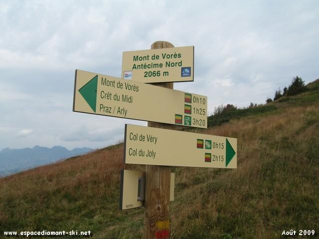 Antécime (sommet secondaire) Nord du Mont de Vorès, à 2066 m
