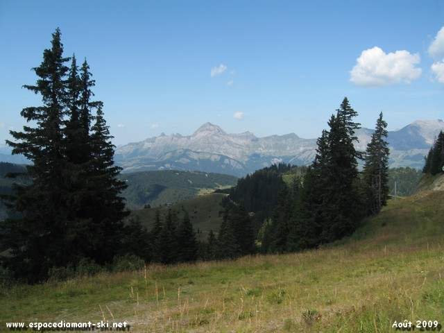 Le Mt Charvin et les Aravis