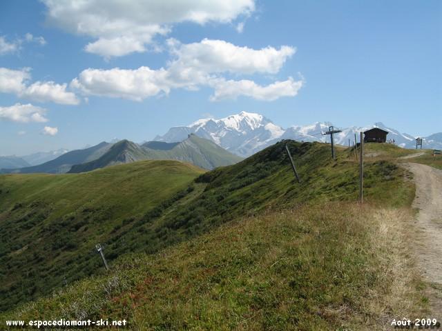 Le TS de Plan des Fours et le Mont Blanc