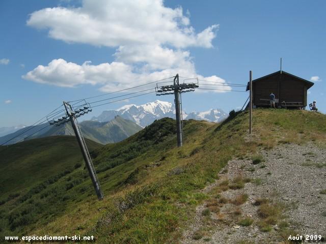 Ce même Télésiège et le Mont Blanc