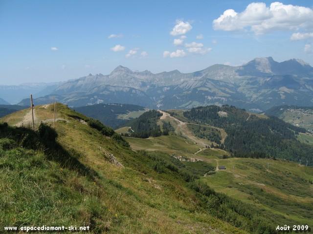 Le Mont Rond et la Chaîne des Aravis