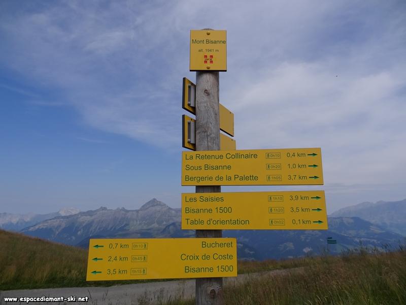 Départ au sommet de Bisanne, à 1941 mètres d'altitude