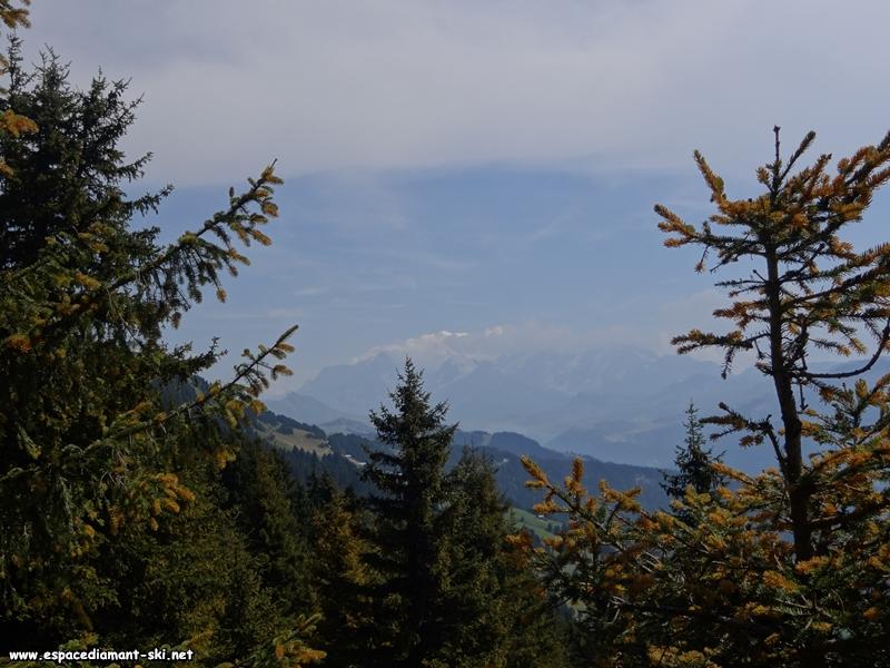 La pointe du Mont Blanc qui dépasse des nuages