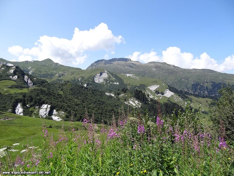 De gauche à droite : la Pointe du Riondet, le Col de la Louze et le Grand Mont
