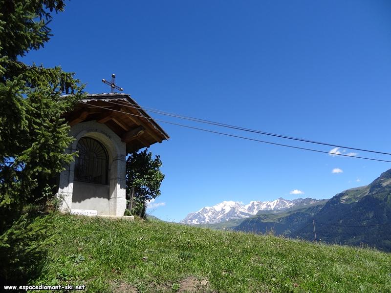 L'oratoire de Nantailly et le Mont Blanc