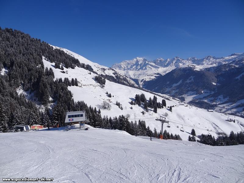 La gare amont et le Mont Blanc