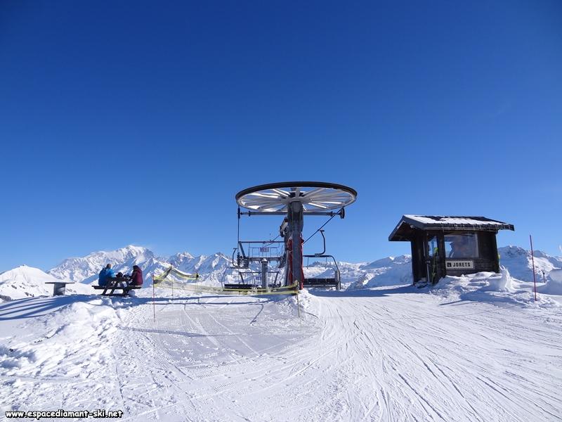 Avec les Chaînes du Mont Blanc et du Beaufortain en arrière plan