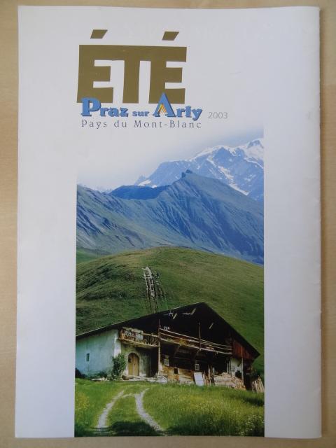 Brochure Praz sur Arly - Eté 2003
