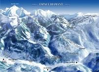 Plan des pistes Espace Diamant - Hiver 2005-2006