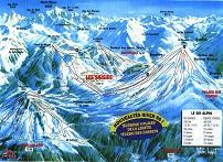 Plan des pistes Les Saisies - Hiver 1998-1999
