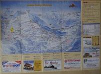 Plan des pistes Les Saisies - Hiver 2000-2001