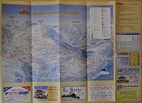 Plan des pistes Les Saisies - Hiver 2001-2002