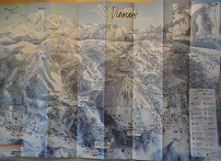 Plan des pistes Les Saisies - Hiver 2007-2008