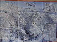 Plan des pistes Les Saisies - Hiver 2010-2011