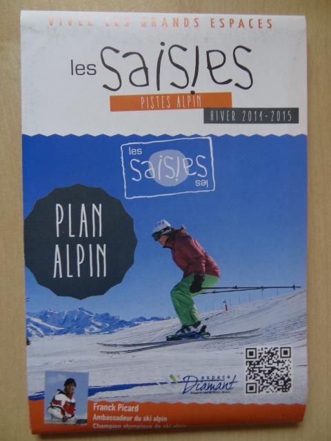 Plan des pistes Les Saisies - Hiver 2014-2015