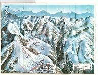 Plan des pistes Notre Dame de Bellecombe - Entre 1970 et 1977
