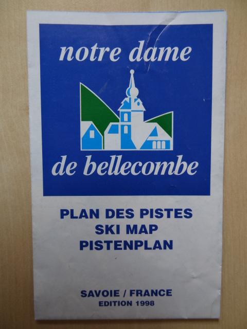 Plan des pistes Notre Dame de Bellecombe - Hiver 1998-1999