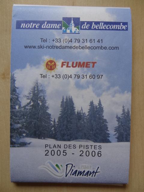 Plan des pistes Notre Dame de Bellecombe/Flumet - Hiver 2005-2006