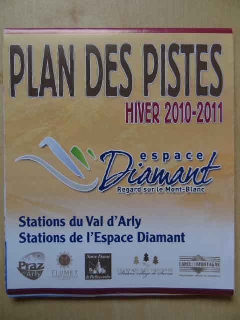 Plan des pistes Val d'Arly - Hiver 2010-2011