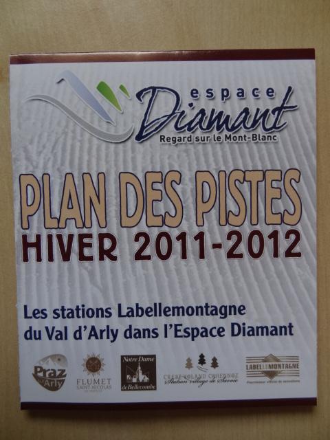 Plan des pistes Val d'Arly - Hiver 2011-2012