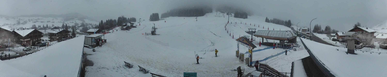 Vue depuis la nouvelle webcam sur le front de neige du Mont Rond à Notre Dame de Bellecombe
