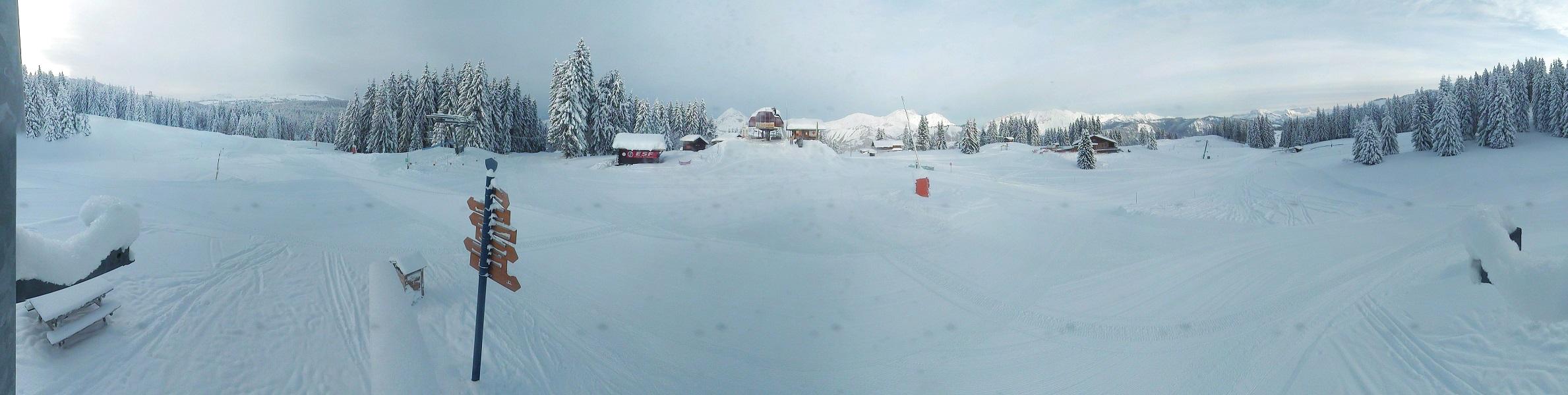 Le sommet du Lachat à Crest-Voland, où 100% des pistes sont ouvertes !