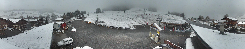 Mince couche blanche au Mont Rond