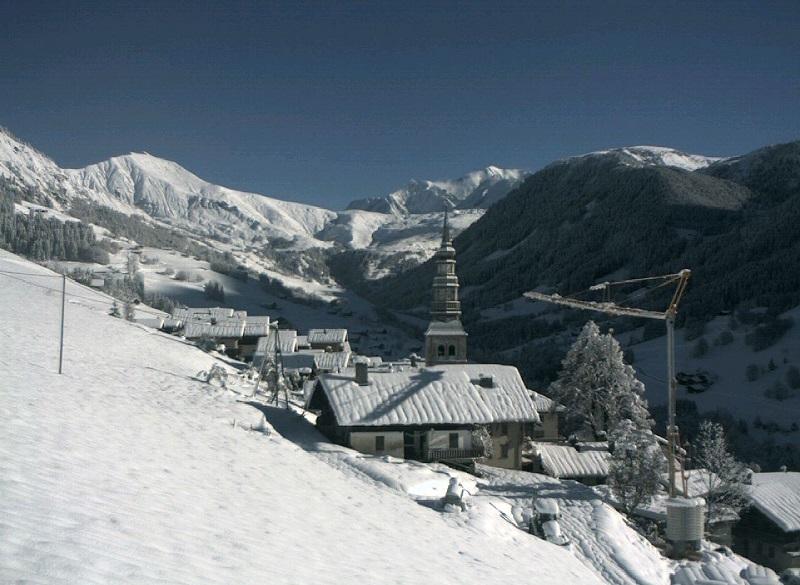 Le Mont Blanc et les Aiguilles Croches depuis Hauteluce