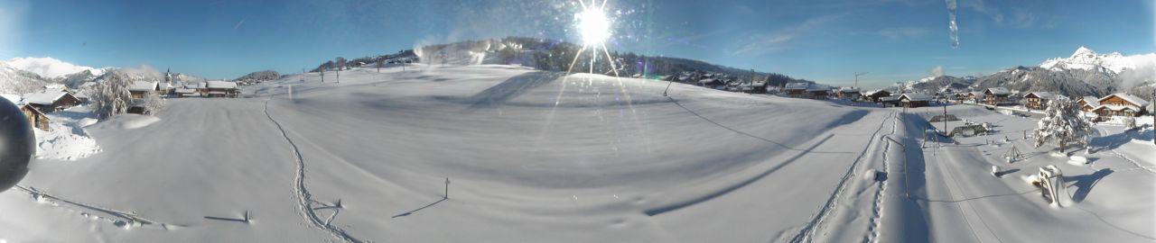 Le front de neige des Tovats à Crest-Voland