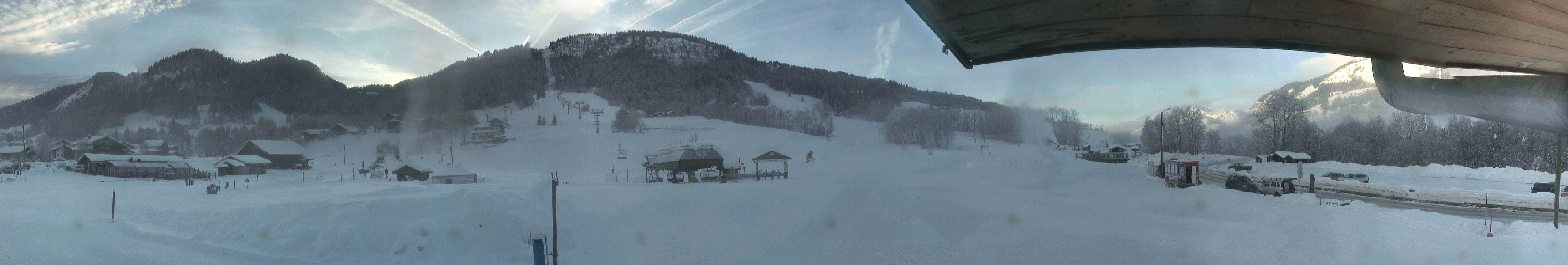 La production de neige de culture continue à Praz sur Arly