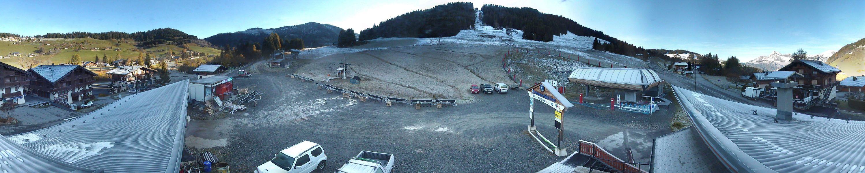 La neige n'a atteint que très difficilement le Mont Rond...