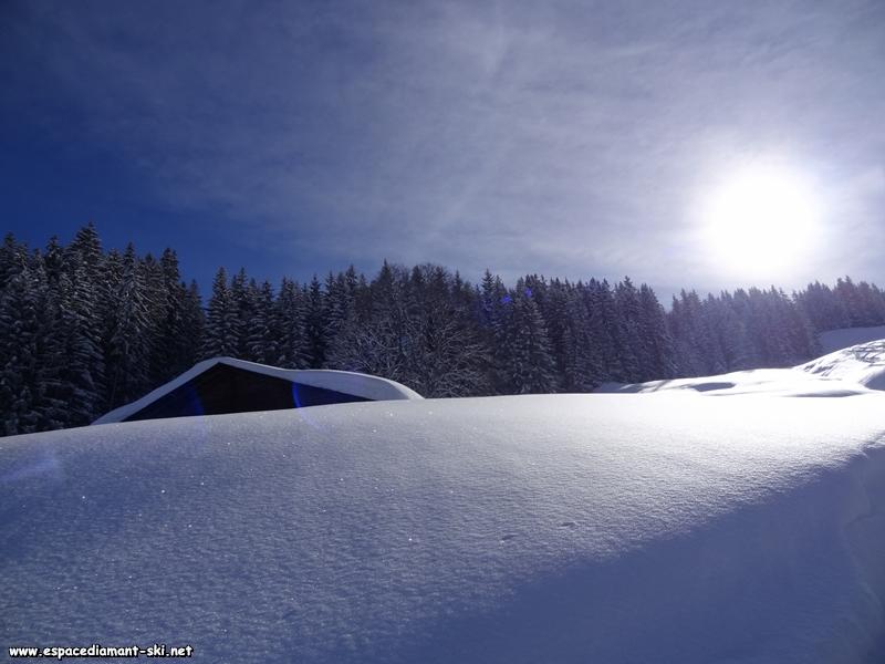 Soleil et poudreuse, un paradis blanc...