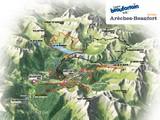 Plan des itinéraires VTT du Beaufortain
