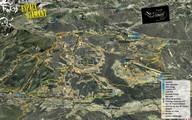 Plan d'une partie des itinéraires VTT du Val d'Arly