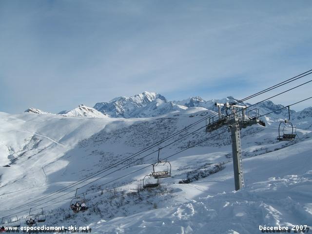 Le Télésiège de Grattary, la Combe de Douce et le Mont Blanc
